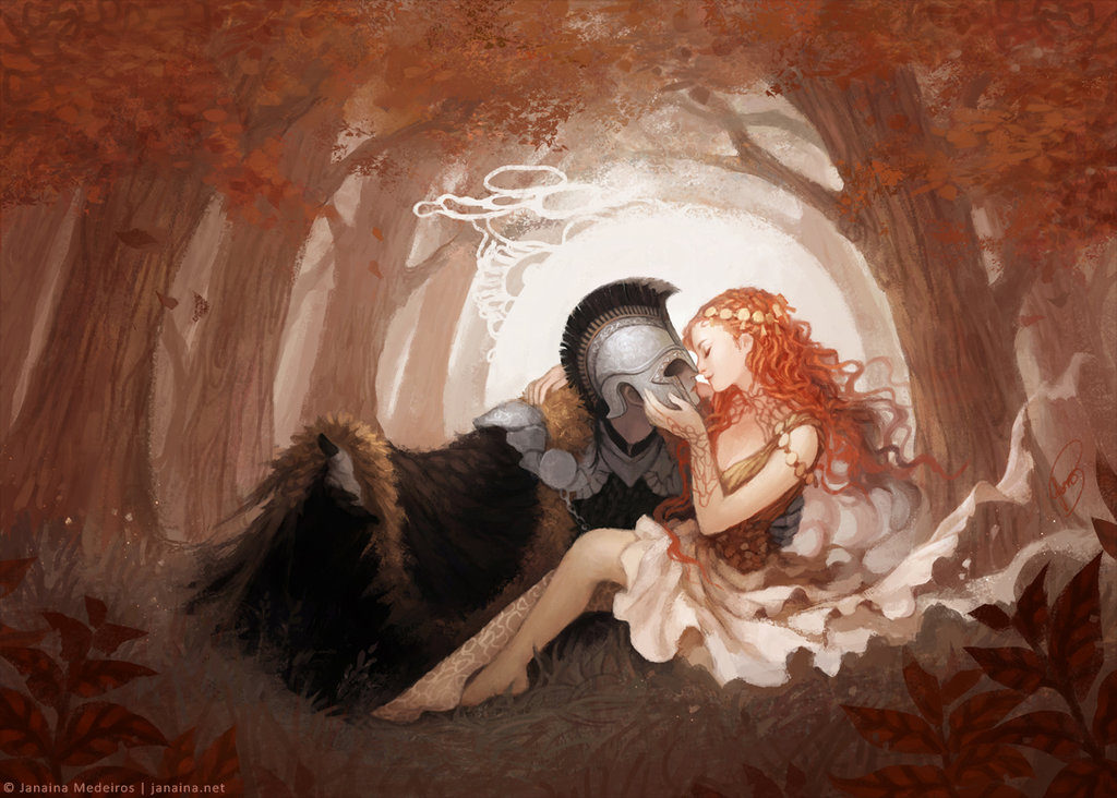 Persephone and Hades by Janaina Medeiros via Deviant Art