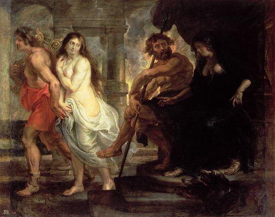 Orpheus before Hades