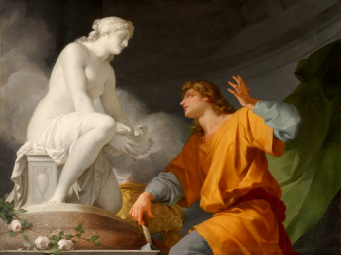 Pygmalion priant Vénus d'animer sa statue
